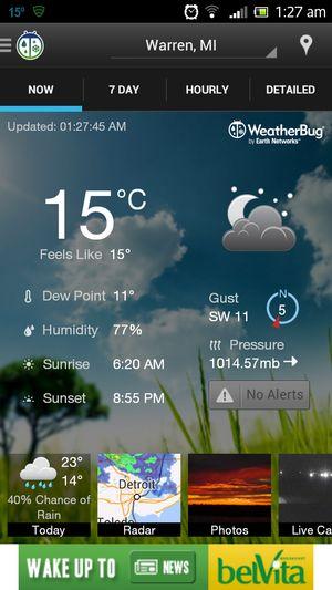 9 aplicaciones para conocer el pronóstico del tiempo: WeatherBug