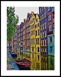 Amsterdam Framed Print by Mario Villeda