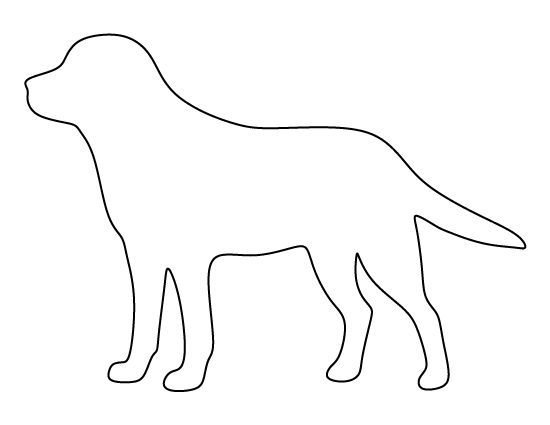 Labrador pattern. Use the printable outline for crafts, creating stencils, scrapbooking, and more. Free PDF template to download and print at http://patternuniverse.com/download/labrador-pattern/