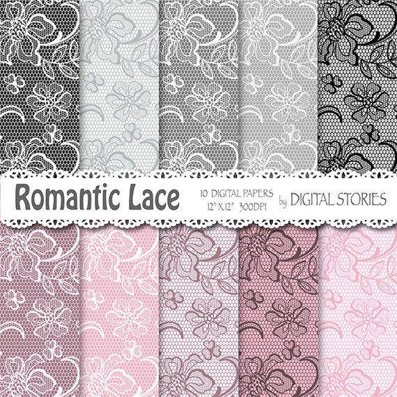 Lace digital paper LACE PINK GRAY Romantic by DigitalStories  https://www.etsy.com/listing/127769447/lace-digital-paper-lace-pink-gray?ref=shop_home_active_12