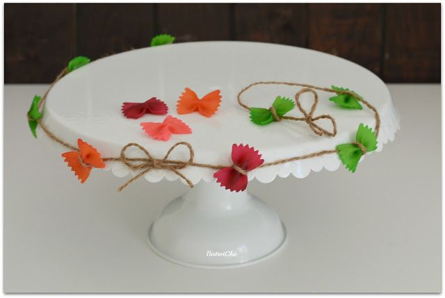 Pasta decorations for parties