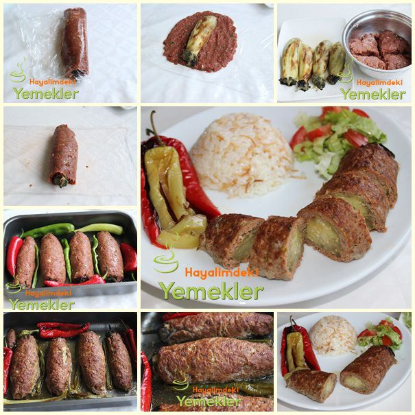 Köfte Mantolu Patlıcan Kebabı