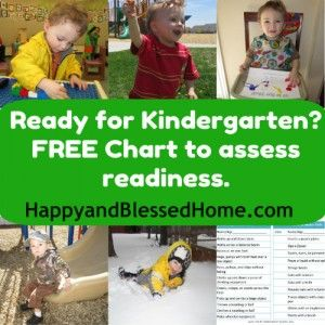 Is your preschooler ready for Kindergarten? FREE Skills Chart to Assess Readiness from HappyandBlessedHo...