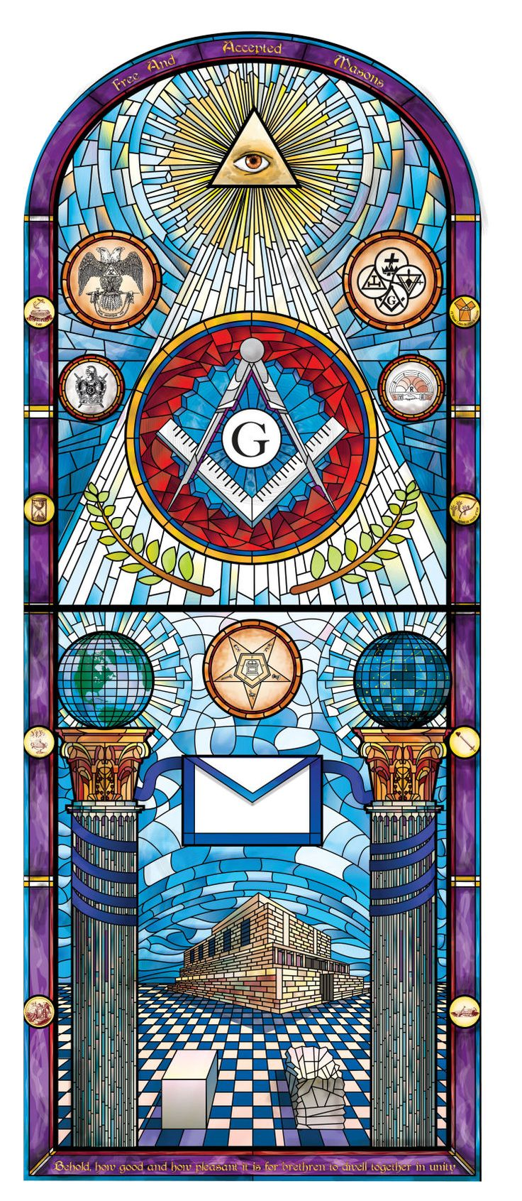 """The Multi Talented Masonic Graphic Artist Brother Ryan J. Flynn """"Behold, how good and how pleasant it is for brethren to dwell together in unity."""""""