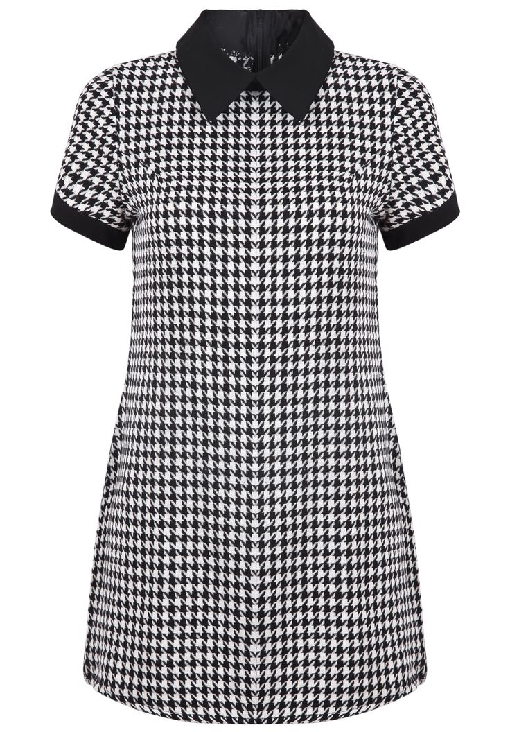 Shop Black Lapel Short Sleeve Houndstooth Dress online. SheIn offers Black Lapel Short Sleeve Houndstooth Dress & more to fit your fashionable needs.