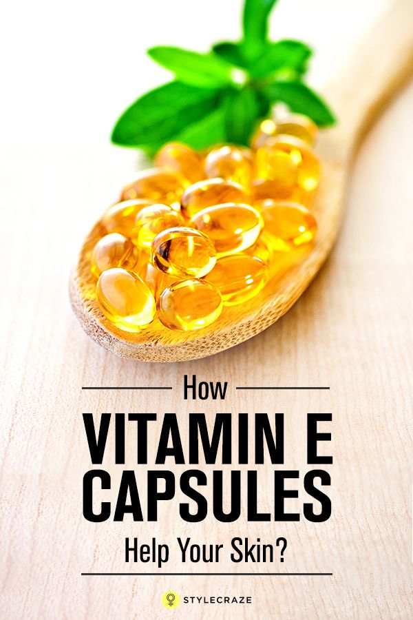 How Vitamin E Capsules Help Your Skin?