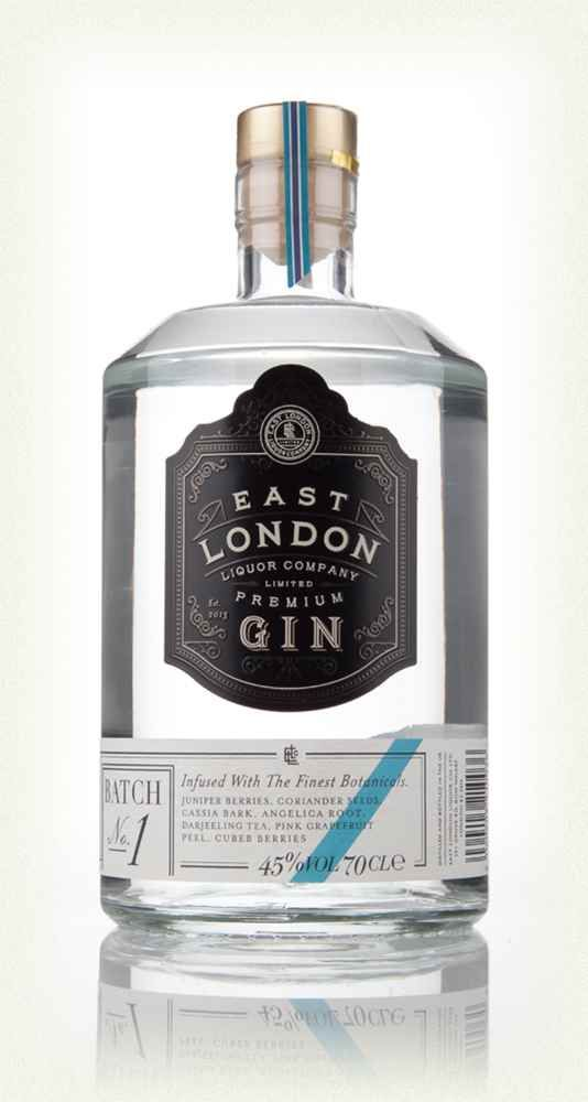 East London Liquor Company Premium Gin Batch No.1