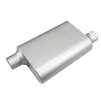 Find Summit Racing® 2-Chamber Performance Mufflers SUM-638252 and get Free Shipping on Orders Over $99 at Summit Racing!  Give your racing machine a little attitude! These Summit Racing race mufflers will give your vehicle a deep aggressive tone. Constructed from steel with an aluminized finish they are perfect for your next street/strip project. Available in multiple sizes and configurations to suit your high performance needs. Find Summit Racing® 2-Chamber Performance Mufflers SUM-6382...
