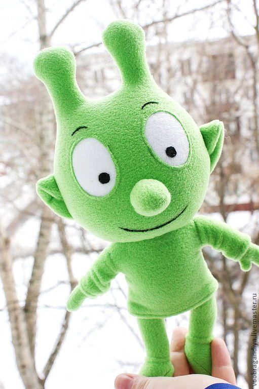 Купить Свитпи марсианец - игрушка, герои мультфильмов, персонажи мультфильмов, ярко-зелёный, инопланетянин, флис