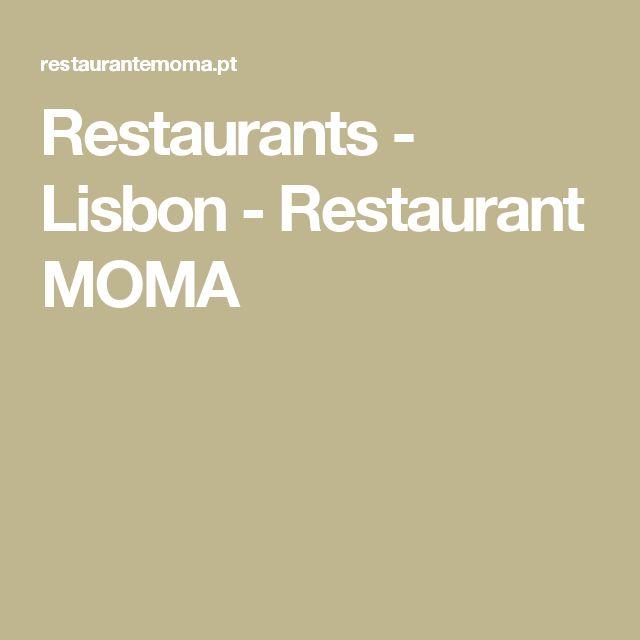 Restaurants - Lisbon - Restaurant MOMA