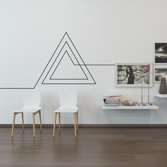 Ähnliche Artikel wie Wohnzimmer Wandtattoo: Endloses geometrisches Dreieck auf …