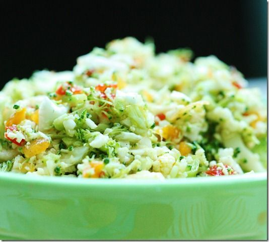 Broccoli Hemp Slaw with Tangy Mustard Dressing
