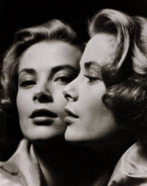 Reflections with Grace.     Grace Kelly by Philippe Halsman, 1959.