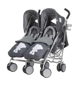 Buy Tiny Tatty Teddy Deluxe Twin Pushchair and Footmuffs - Denim at Argos.co.uk, visit Argos.co.uk to shop online for Pushchairs