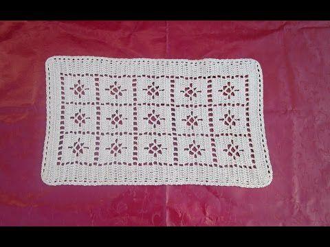 Passadeira tapete caminho de mesa croche facil marrom parte 1 - YouTube