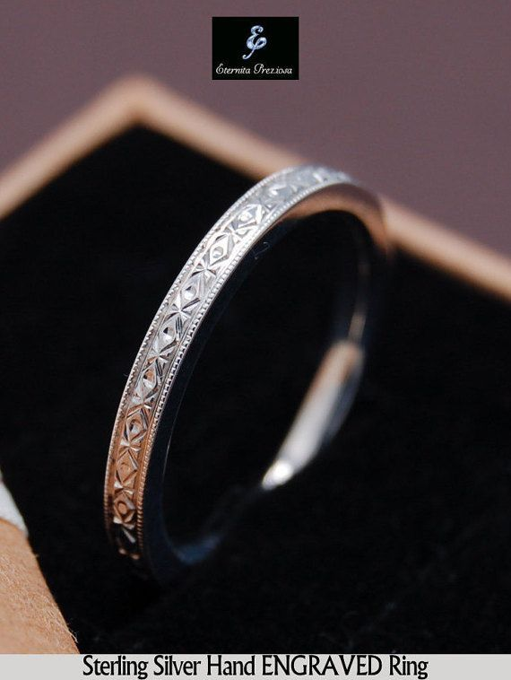 Hey, I found this really awesome Etsy listing at https://www.etsy.com/listing/219917518/hand-engraved-sterling-silver-ring