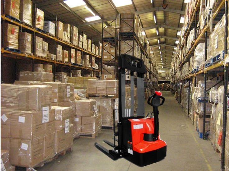 NEW 1.2 TON ELECTRIC PALLET STACKER WITH 3.3m LIFT (ELECTRIC DRIVE AND LIFT) FOR SALE