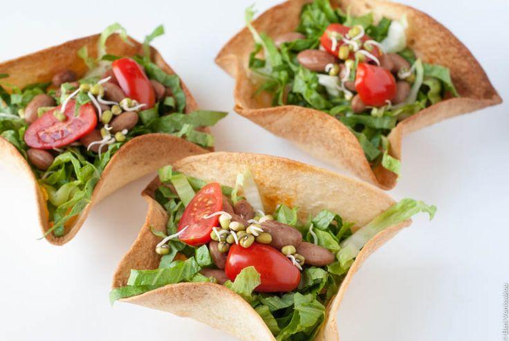 Πως φτιάχνουμε: βρώσιμα μπολάκια από τορτίγιες - Edible taco bowls (in Greek) www.thefoodiecorner.gr