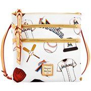 Dooney & Bourke Miami Marlins Triple Zip Crossbody Purse |||||||| It's Saturday in real life, but it's still Black Friday at Fanatics! Save 25% + free shipping on orders over $50! Use code: BLKFRI