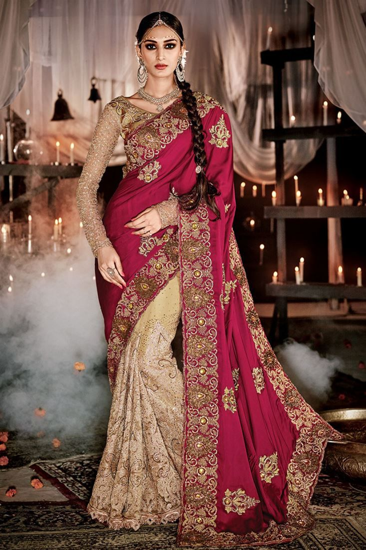 Designer Sarees online shopping in USA UK Canada|Buy chic embroidered Work designer Indian wedding sa