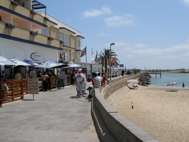City beach in Swakopmund, Namibia, For visit, hire a car from: http://namibiacarrentals.com