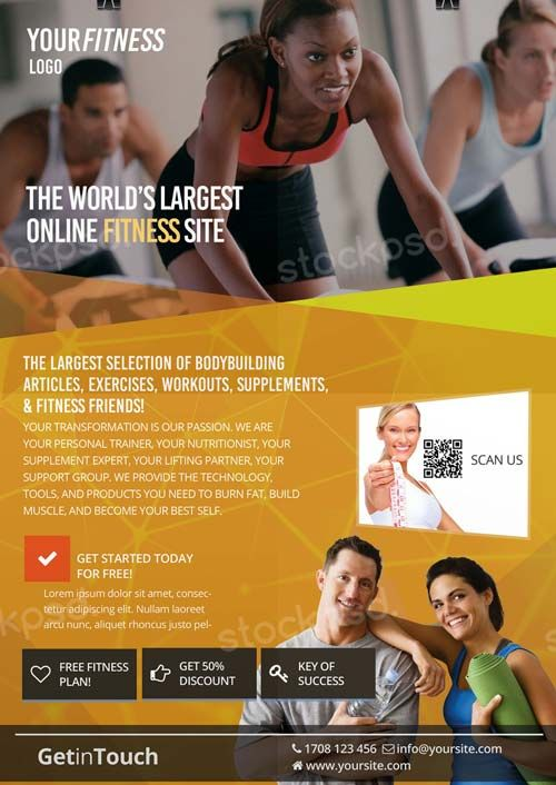 1285 best Free Flyer Templates images on Pinterest Free psd - Gym Brochure Templates