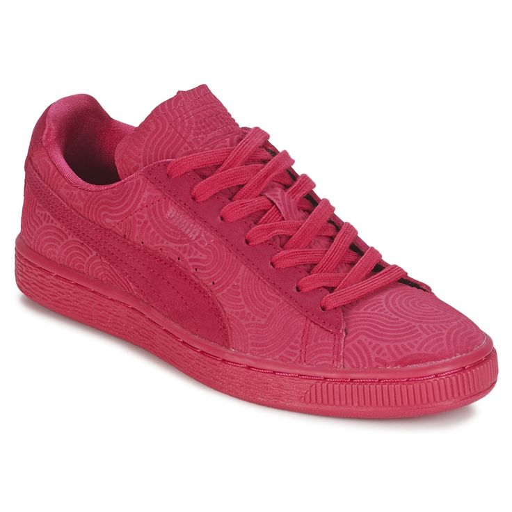 baskets basses puma suede classic colored wns rouge prix promo baskets femme spartoo 7999 - Basket Femme Color