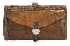 wardow.com - #Campomaggi, Lavata Geldbörse Damen Leder mud 18 cm