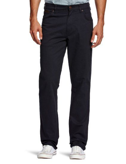 Wrangler Texas Stretch W121P3114 Tapered Men's Jeans Navy W34 INxL30 IN (Brushed Fabric)