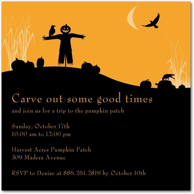 Halloween party invitations, Spooky Scarecrow Halloween