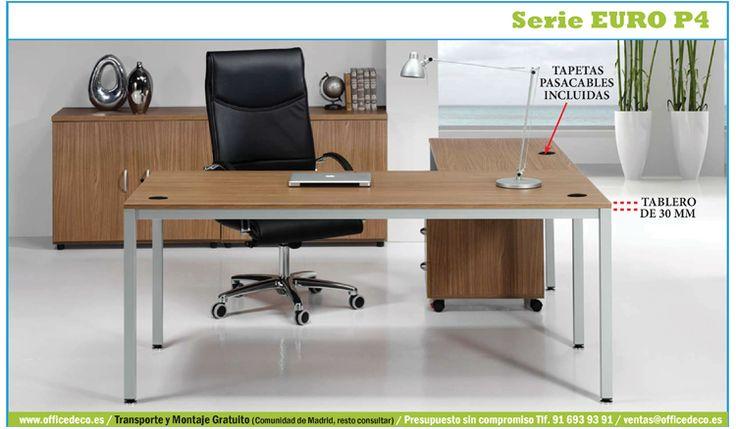 Mobiliario de oficina operativo serie Euro P4