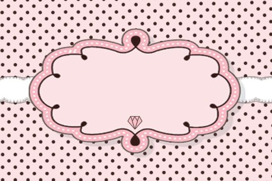 Rótulos para personalizar, kit com seis modelos com o tema casamento provençal em tom de rosa com marrom, poá e listras. Download abaixo da...