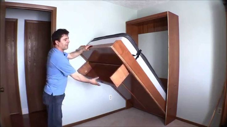How I built my wall bed quickly and easily with Easy DIY Murphy Bed hard...