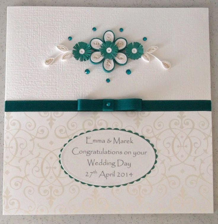 Awesome Handmade Wedding Congratulations Cards Saying Ideas Modern Card With Green And White Flower