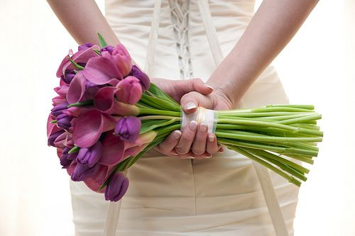 Purple Tulip and Calla Lily Wedding Bouquet | Flickr - Photo Sharing!