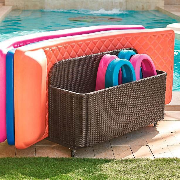 10 Charming Diy Outdoor Storage Ideas Pool Float Storage Teak Outdoor Outdoor Garden Furniture