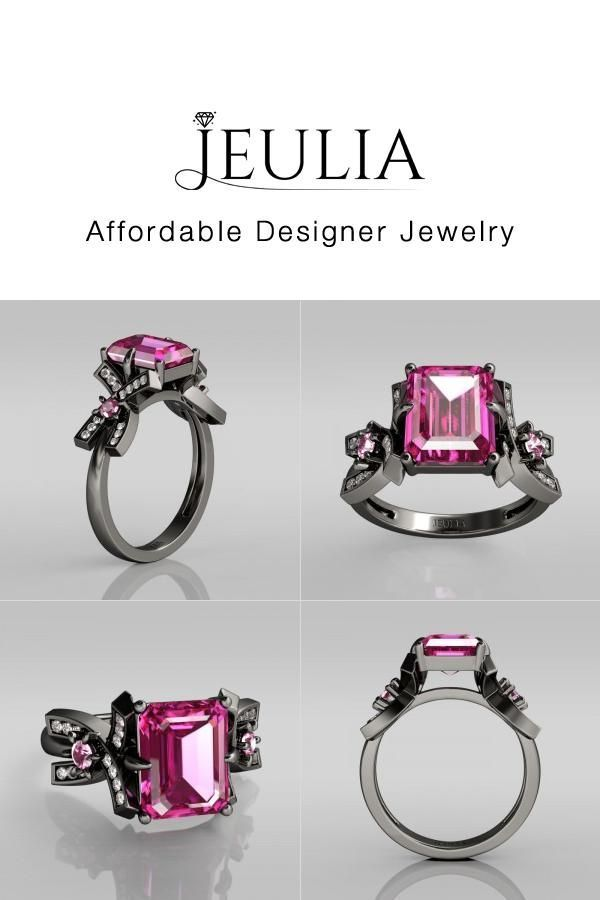 #Jeulia JEULIA Black Rhodium Plated Sterling Silver Promise Rings For He. Discover more stunning Classic Rings from Jeulia.com. Shop Now!