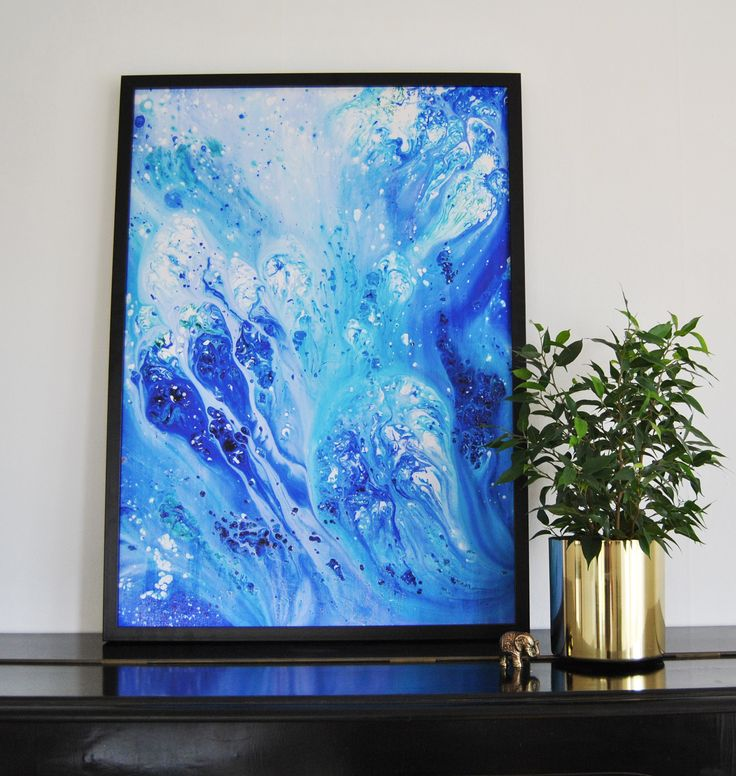 "Abstract art - ""JELLYFISH"" print, poster, interior, scandinavian design"