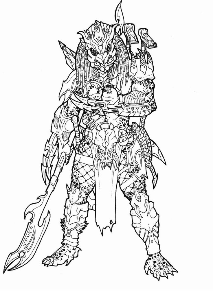 predator alien coloring pages - photo#29