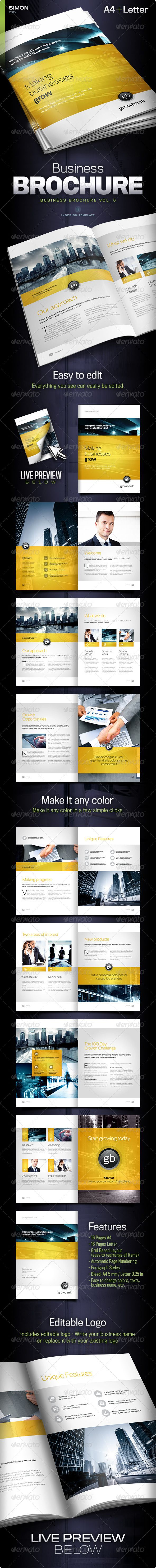 Business Brochure Vol. 8 - Corporate Brochures - the overall design should be NO more than three colours. Corporate colours. Nothing fussy. text/Copy also extremely corporate. High end, technical, straight forward. (Copy on website good for this product - it's very techy :) Fantastic but possibly maybe needing just a slight adjustment for weddings and portraits!! :D