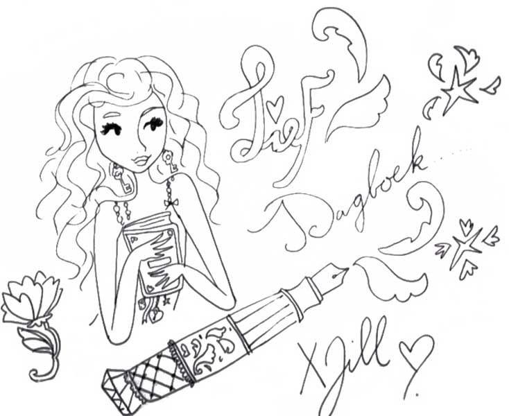 Jills dagboek tekening