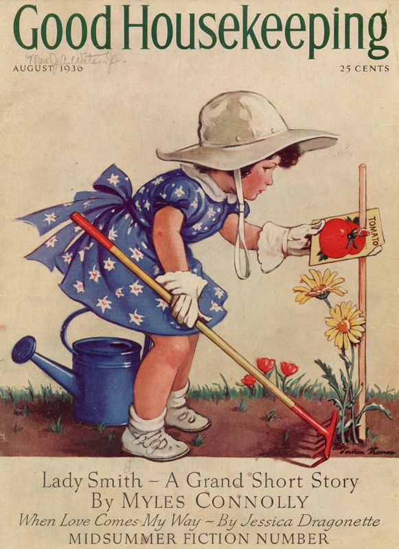 loves planting flowers and watching them grow... Good Housekeeping 1910
