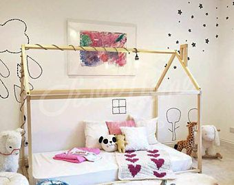 70 x 140 cm verlicht cabane huis bed peuter bed verlicht