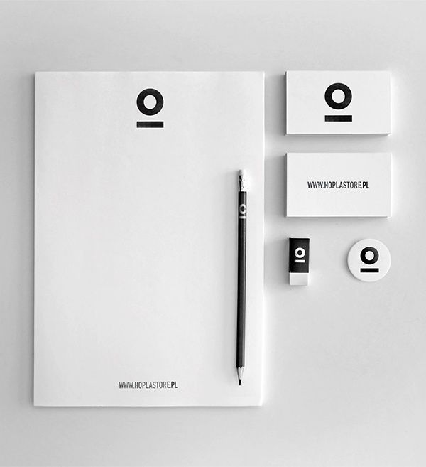 Minimal & puristic: Corporate Design / Identity in black & white | Hoplastore