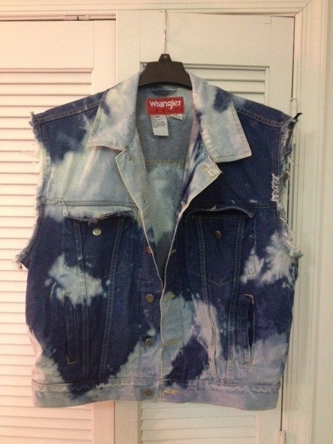 Bleached Denim Vest by TheSecretLifeOfBilly on Etsy, $40.00. DIY.
