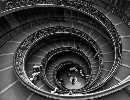 Spiral Staircase in the Vatican Museum - I thought nothing of it when we took the stairs instead of the elevator...until I looked back down from the top!!