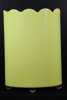 lucite wastebasket yellow vintage mid century retro   a rainbow of