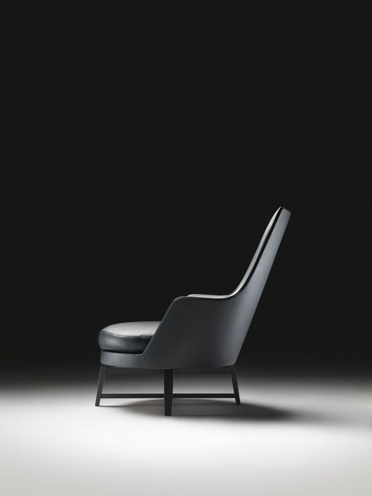FLEXFORM GUSCIOALTO Armchair with arms and wooden base. Designed by ANTONIO CITTERIO.