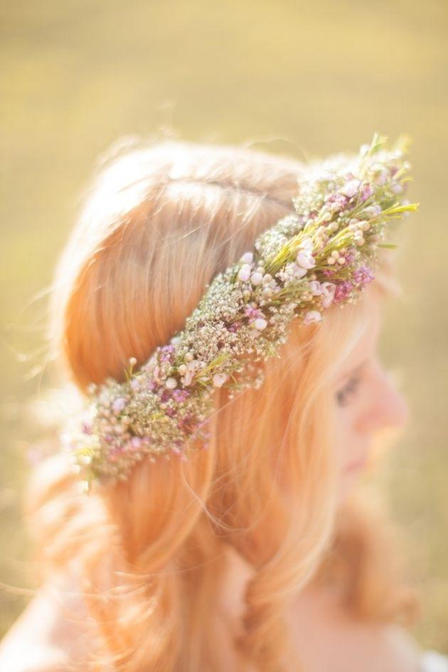 meadow style flower crown.