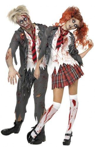 Zombie-Schüler-Kostüm Halloween für Paare